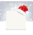 christmas banner with santa claus hat vector image vector image