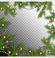 christmas spruce frame vector image vector image
