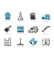 cleaning industry and environment icons vector image vector image