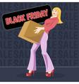 Digital black friday sale inscription vector image vector image