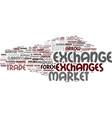exchanges word cloud concept vector image