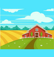 farm house or farmer household agriculture scenery vector image vector image
