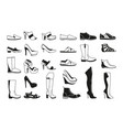 fashion monochrome pictures silhouette of shoes vector image vector image