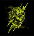 flash thunder hero mascot vector image vector image