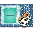 Frame Happy new yearand soccer balls