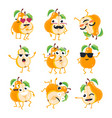 funny pears - isolated cartoon emoticons vector image vector image