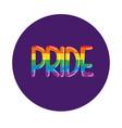 gay pride lettering block style vector image vector image