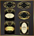 Gold-framed labels vector image