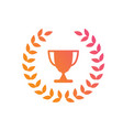gradient pink to orange award prize cup vector image