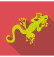 Green gecko icon flat style vector image vector image