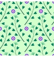 green pattern with lowers and Grass vector image vector image