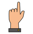 hand human index isolated icon vector image