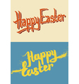 Happy Easter Hand Drawn Lettering vector image vector image