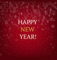 happy new year banner with golden text vector image vector image