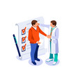 health care isometric concept vector image