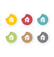 home icons colored stickers set vector image