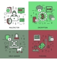 Internet Security Square Icon Set vector image vector image