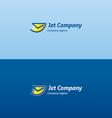 jet envelope check flying logo vector image