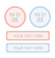 labels for boy and girl dotted designed template vector image vector image