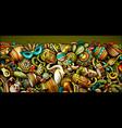 latin america hand drawn doodle banner cartoon vector image vector image