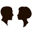 man and woman faces vector profiles vector image vector image