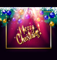 merry christmas hand lettering text card vector image