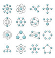 molecule model line set structure vector image vector image