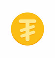 mongolian tugrik currency symbol on gold coin vector image vector image