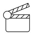 movie clapper thin line icon clapperboard vector image