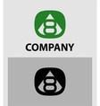 Number 8 logo logotype design vector image vector image