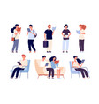 people read persons reading books sit on chair in vector image vector image