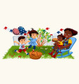 pretty happy family spending time together in good vector image