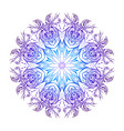 round mandala with boho pattern vector image