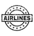 scratched textured airlines stamp seal vector image vector image