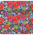 Seamless Floral Pattern with Poppies and Anemones vector image vector image