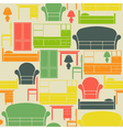 Seamless pattern with furniture vector image vector image
