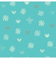 Seamless with snowflakes hearts and angels vector image