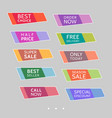 set of abstract colorful sale stickers vector image vector image