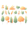 simple colorful autumn leaves autumnal trees and vector image vector image