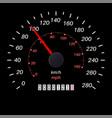 speedometer black scale vector image vector image