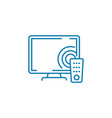 television technology linear icon concept vector image vector image