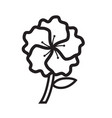 thin line flower icon vector image vector image