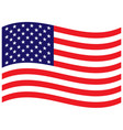usa flag wave background vector image vector image