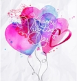 Valentines day balloon hearts vector image vector image