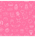 valentines day elements seamless background vector image