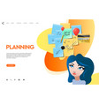 web page template business apps planning board vector image