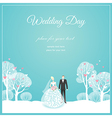 Weding park love vector image