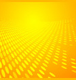 abstract dots pattern halftone yellow and orange vector image