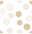 abstract geometric hexagons seamless pattern vector image vector image