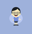 adorable boy cartoon character vector image vector image